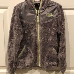 Gray North Face fleece
